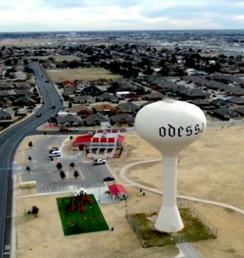 view of Odessa Water Tower